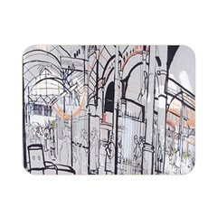 Cityscapes England London Europe United Kingdom Artwork Drawings Traditional Art Double Sided Flano Blanket (mini)