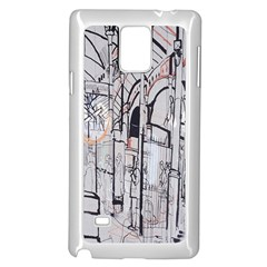 Cityscapes England London Europe United Kingdom Artwork Drawings Traditional Art Samsung Galaxy Note 4 Case (white)