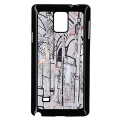 Cityscapes England London Europe United Kingdom Artwork Drawings Traditional Art Samsung Galaxy Note 4 Case (Black)