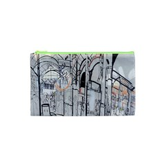 Cityscapes England London Europe United Kingdom Artwork Drawings Traditional Art Cosmetic Bag (XS)