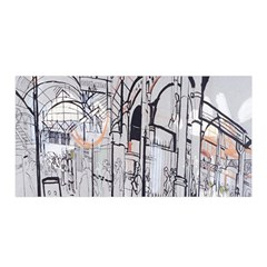 Cityscapes England London Europe United Kingdom Artwork Drawings Traditional Art Satin Wrap