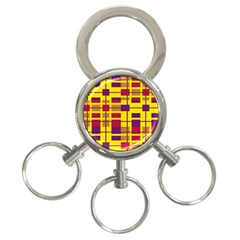 Pattern 3 Ring Key Chains