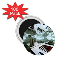 Digital Art Paint In Water 1.75  Magnets (100 pack)