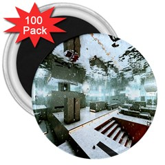 Digital Art Paint In Water 3  Magnets (100 pack)