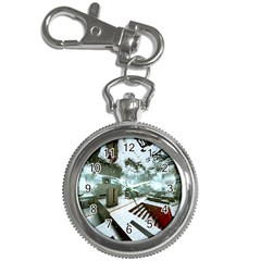 Digital Art Paint In Water Key Chain Watches