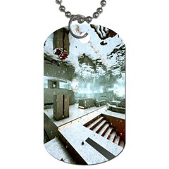 Digital Art Paint In Water Dog Tag (Two Sides)