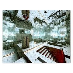 Digital Art Paint In Water Rectangular Jigsaw Puzzl