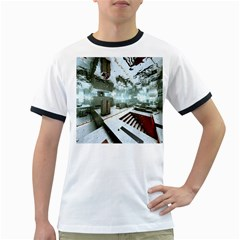 Digital Art Paint In Water Ringer T Shirts