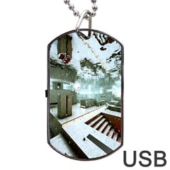 Digital Art Paint In Water Dog Tag Usb Flash (one Side)