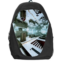 Digital Art Paint In Water Backpack Bag