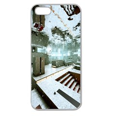Digital Art Paint In Water Apple Seamless iPhone 5 Case (Clear)