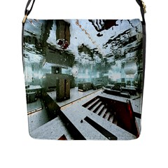 Digital Art Paint In Water Flap Messenger Bag (L)
