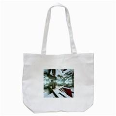 Digital Art Paint In Water Tote Bag (White)