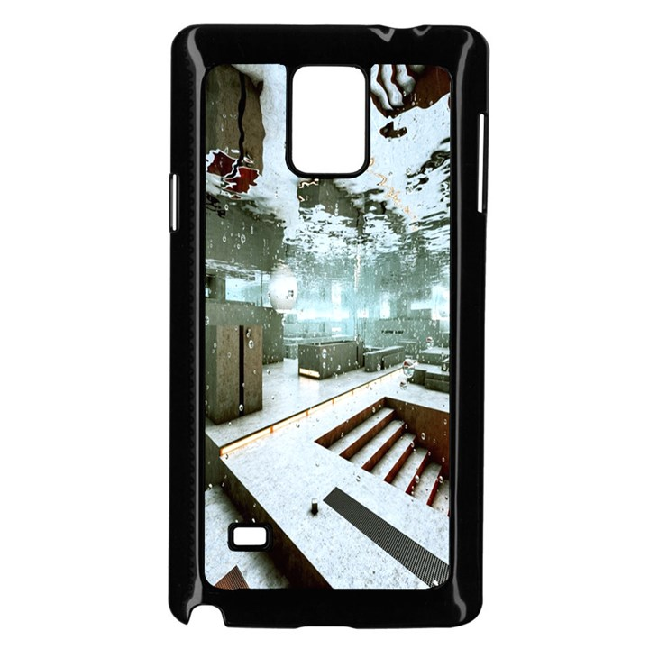 Digital Art Paint In Water Samsung Galaxy Note 4 Case (Black)
