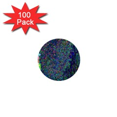 Glitch Art 1  Mini Buttons (100 Pack)