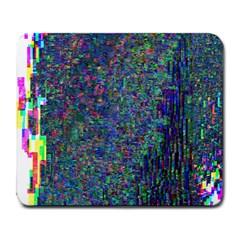 Glitch Art Large Mousepads