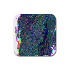 Glitch Art Rubber Coaster (square)