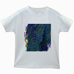 Glitch Art Kids White T-Shirts