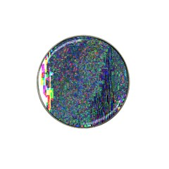 Glitch Art Hat Clip Ball Marker