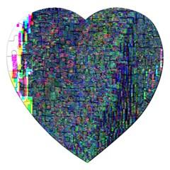 Glitch Art Jigsaw Puzzle (heart)