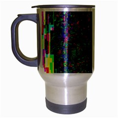 Glitch Art Travel Mug (Silver Gray)