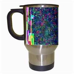 Glitch Art Travel Mugs (White)