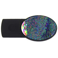 Glitch Art Usb Flash Drive Oval (4 Gb)