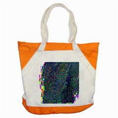 Glitch Art Accent Tote Bag