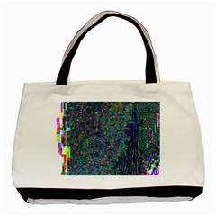 Glitch Art Basic Tote Bag (two Sides)