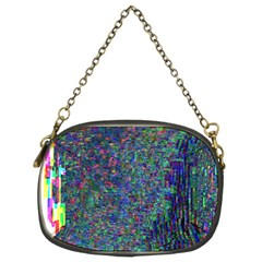 Glitch Art Chain Purses (two Sides)