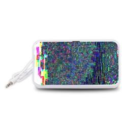 Glitch Art Portable Speaker (White)