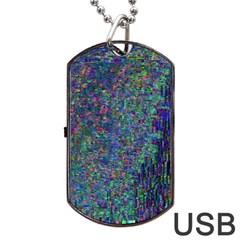 Glitch Art Dog Tag USB Flash (Two Sides)