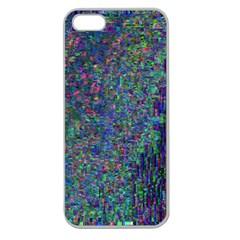 Glitch Art Apple Seamless iPhone 5 Case (Clear)