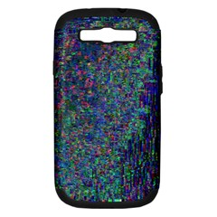 Glitch Art Samsung Galaxy S III Hardshell Case (PC+Silicone)