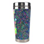 Glitch Art Stainless Steel Travel Tumblers Left