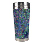 Glitch Art Stainless Steel Travel Tumblers Center