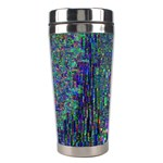 Glitch Art Stainless Steel Travel Tumblers Right