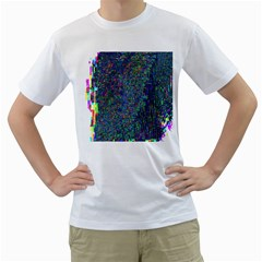 Glitch Art Men s T-Shirt (White)