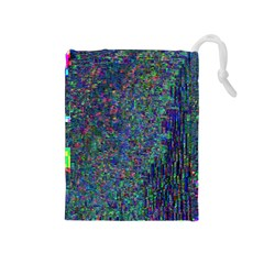 Glitch Art Drawstring Pouches (Medium)
