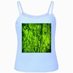 Concept Art Spider Digital Art Green Baby Blue Spaghetti Tank