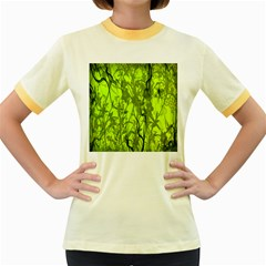 Concept Art Spider Digital Art Green Women s Fitted Ringer T-Shirts