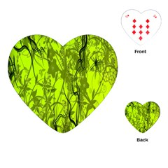 Concept Art Spider Digital Art Green Playing Cards (Heart)