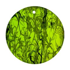 Concept Art Spider Digital Art Green Round Ornament (Two Sides)