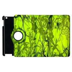 Concept Art Spider Digital Art Green Apple iPad 2 Flip 360 Case