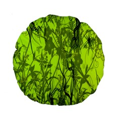 Concept Art Spider Digital Art Green Standard 15  Premium Round Cushions
