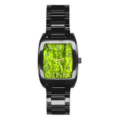 Concept Art Spider Digital Art Green Stainless Steel Barrel Watch