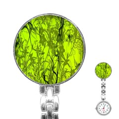 Concept Art Spider Digital Art Green Stainless Steel Nurses Watch