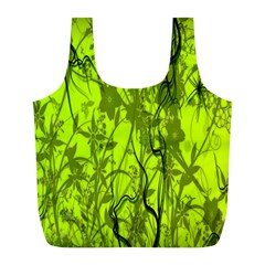 Concept Art Spider Digital Art Green Full Print Recycle Bags (L)