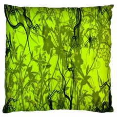Concept Art Spider Digital Art Green Large Flano Cushion Case (one Side)