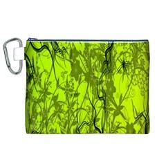 Concept Art Spider Digital Art Green Canvas Cosmetic Bag (XL)